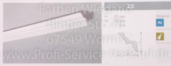 Z2 ornamentierte NMC Arstyl® Stuckleiste, 200 x 8,5 x 8,5 cm
