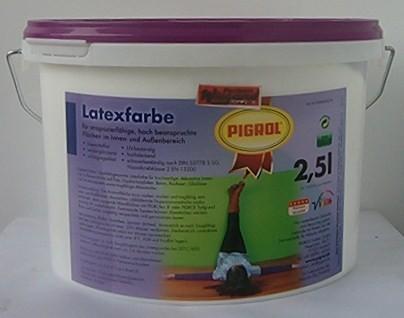 Pigrol Latexfarbe, weiß seidenglänzend, 2,5 l