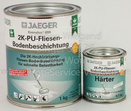Kronalux® 2K-PU-Fliesenboden-Beschichtung weiss 9010, sdm 1,1 kg