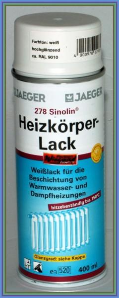 Sinolin Heizkörperlack Spray glänzend weiß 400 ml