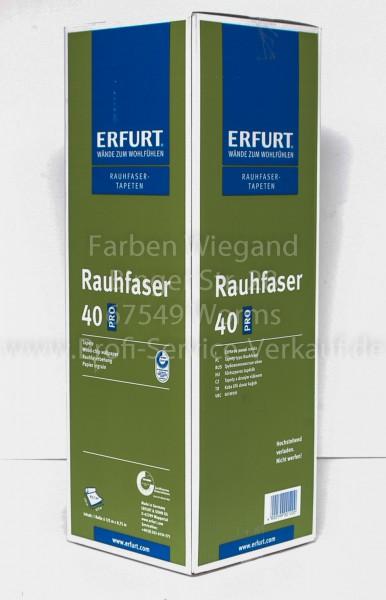 Rauhfaser Erfurt 40 PRO Korn Kubisch mittel weiß 125 x 0,75 m