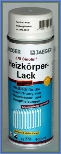 Sinolin Heizkörperlack Spray seidenglänzend weiß 400 ml