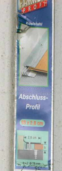 Abschlussprofil, edelstahl, 93 x 2,8 cm-1