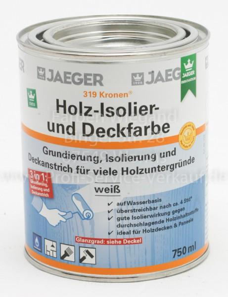 Kronen® Holz-Isolier- und Deckfarbe sdglzd weiß, 750 ml