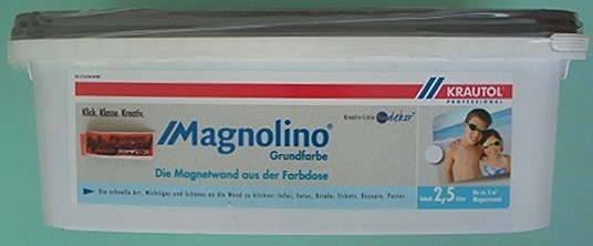 Magnetfarbe Magnolino Grundfarbe grau 2.5 l