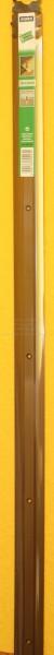 Alu-Übergangsprofil extra breit, bronze, Mitte gelocht