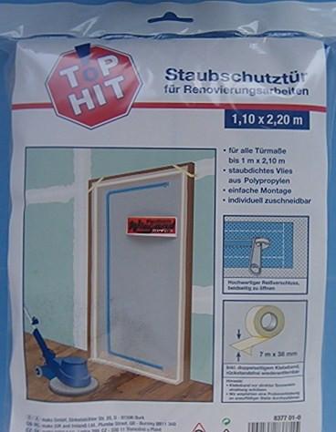 Wohnung vor Staub schützen mit Staubschutztür