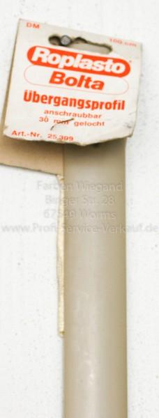 Übergangsprofil Kunststoff, gelocht, hellbeige,90 x 3 cm