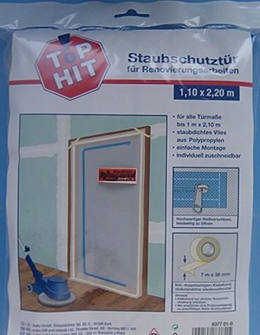 Staubschutztür mit Reißverschluß