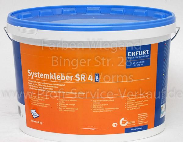 Systemkleber SR 4 PRO, 18 kg, für Erfurt KlimaTec  KV 600 PRO
