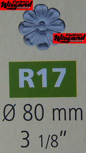 4er Set Dekorationselemente R 17;  Durchmesser 80 mm