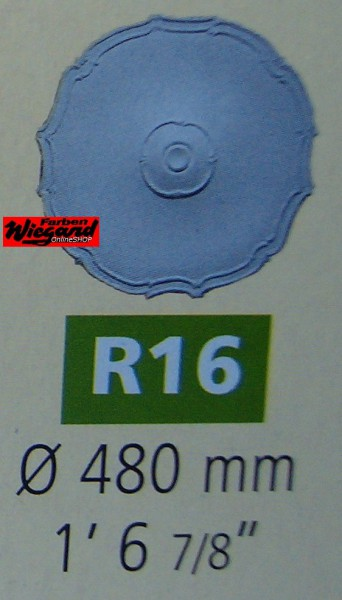 Rosette R 16;  Durchmesser 480 mm