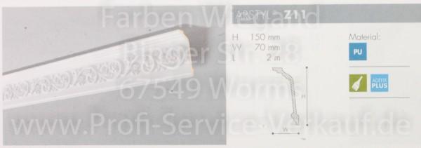 Z11 ornamentierte NMC Arstyl®  Stuckleiste, 200 x 15 x 7 cm