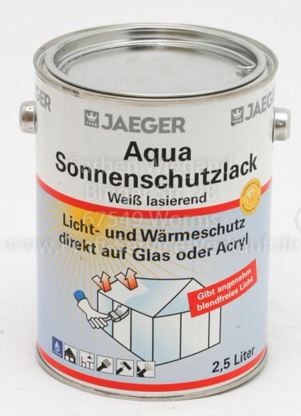 Aqua Sonnenschutzlack weiß lasierend 2,5 l