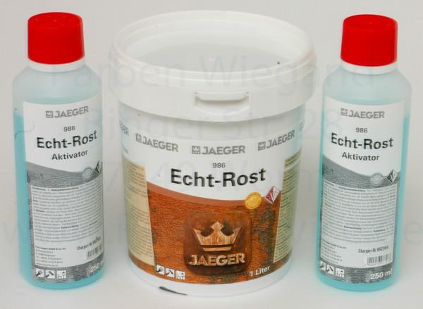 JaegerSet Rostfarbe Echt-Rost 1 l + Echt-Rost + Aktivator 500 ml