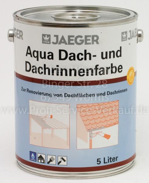 Jaeger Aqua Dach- und Dachrinnenfarbe zementgrau 5 l