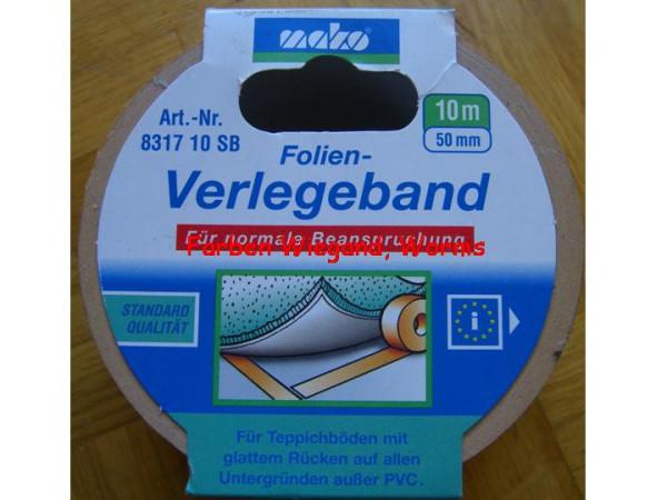 Folien Verlegeband, 50 mm breit, 10 m