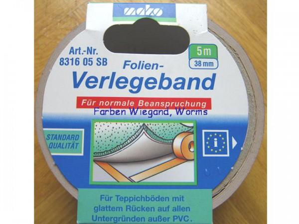 Folien Verlegeband, 38 mm breit, 5 m