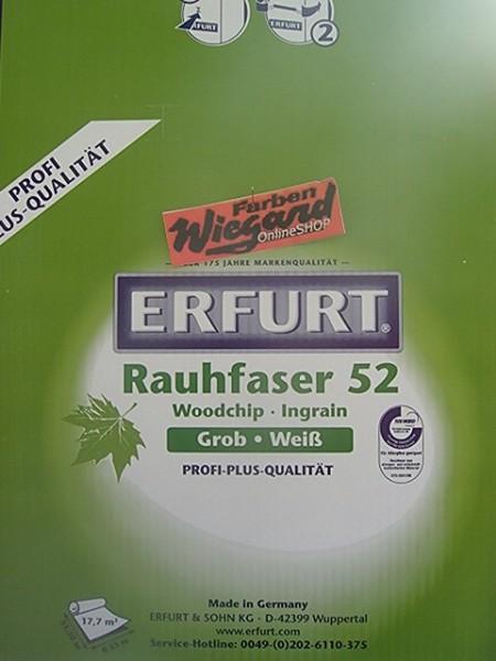 6 Rollen Rauhfaser Erfurt PRO Korn 52 33,5 x 0,53 m