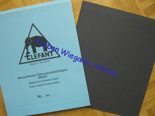 Schleifpapier wasserfest Bogen Korn 240