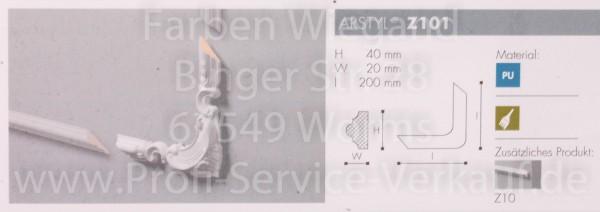 4 Bögen / Ecken für Flachprofil Z10 20 x 4 x 2  cm-1