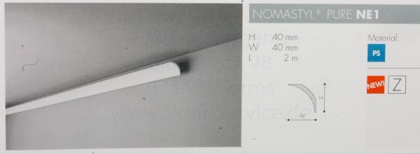 NOMASTYL® PURE Zierprofil NE1 200 x  4  x  4  cm