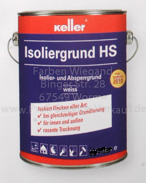 Keller® Isoliergrund HS weiss 2.5 L