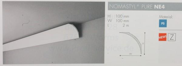 NOMASTYL® PURE Zierprofil NE4 200 x 10 x 10 cm