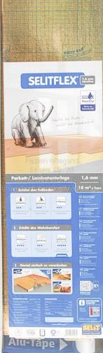 Selitflex gold Parkett-/ Laminat-Unterlage 1,6 mm, 18 m² + Dicht