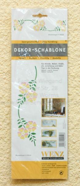 Blumenbogen Schablone