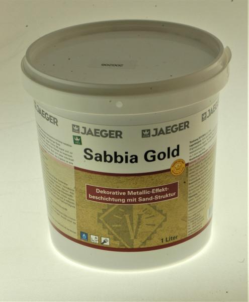 goldene Effektfarbe mit Struktur wie Sand