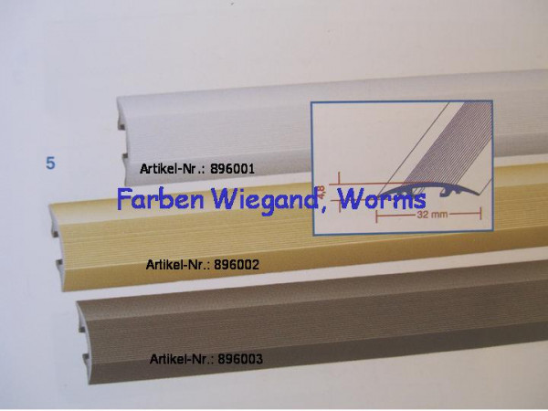 clip Übergangsprofil, silber, 90 x 3,2 cm