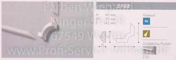 4 Bögen / Ecken Z103 für Flachprofil Z10 14,5  x  4 x 2  cm