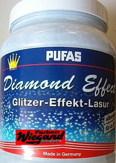 Diamond Effect Lasur, silberner Effekt, 1,5 l