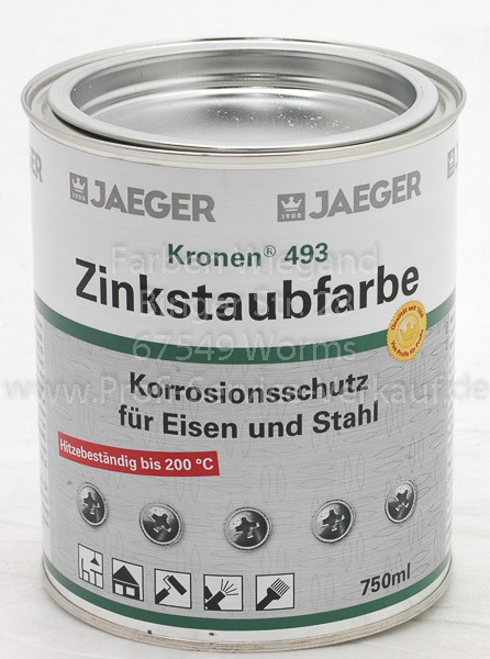 Jäger Zinkstaubfarbe grau 750 ml