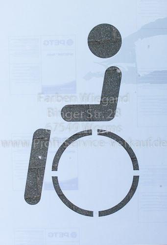 Symbol Behindert für Parkplatzmarkierung Boden